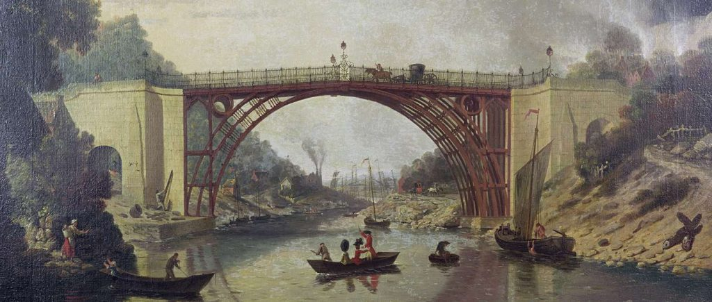 williams-view-of-coalbrookdale iron bridge